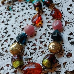 Vivid Glass Bead Vintage Necklace